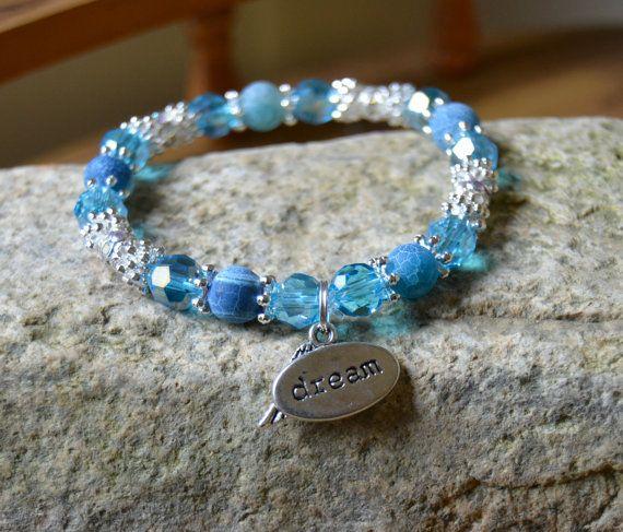 Dream Hope Angel Bracelet in Light Blue by HopeAngelBracelets