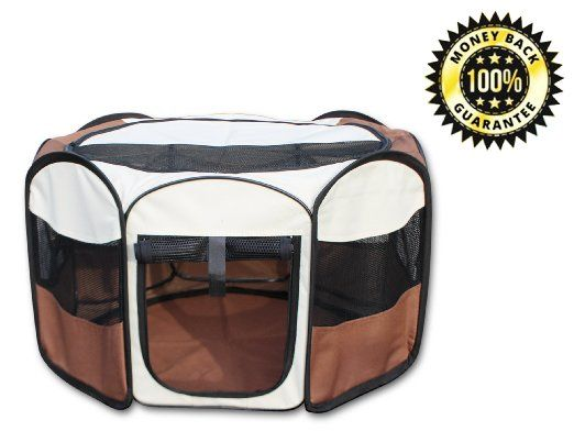 Buy Dog Play Pen House Pet Puppy Carrier Portable Folding Storage Zip  Exercise Small At Online Store