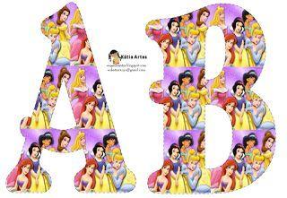Alfabeto Bellas Princesas Disney Con Imagenes Princesas