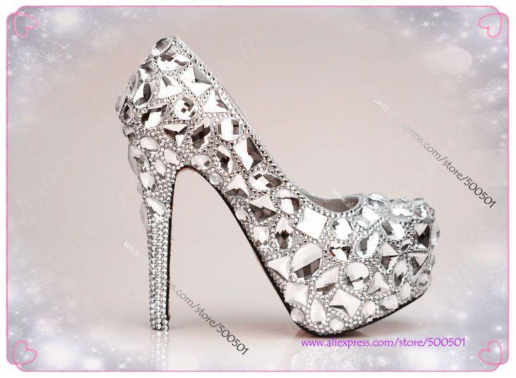 Silver bridal shoes, Bridal shoes