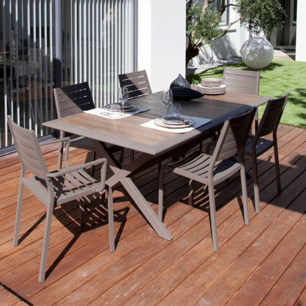 Jardin Cafe One Utama: Table De Jardin Ceram Aluminium/plateau Céramique Café