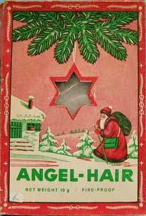 loved the look of angel hair on the christmas tree as a child but it always made me itch