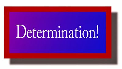 Ramblings...Essays and Such...: Determination!