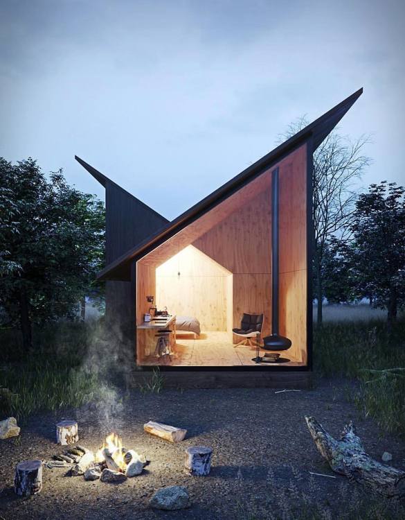 The Mountain Refuge Small House Architecture Cabin Design