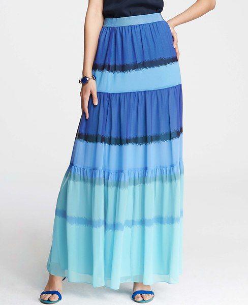 Ann Taylor - AT New Arrivals - Bold Ikat Stripe Maxi Skirt