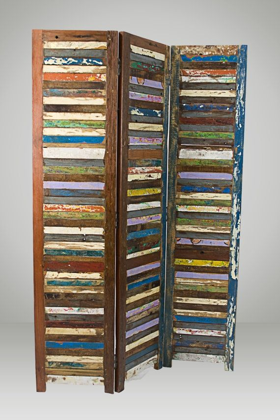 Solid Reclaimed Wood Room Divider | Room Divider ...