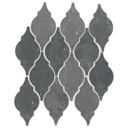 Noble Black Slate Arabesque Mosaic Floor Or Wall Tile 12 X 15 Arabesque Tile Mosaic Flooring Stone Mosaic Tile