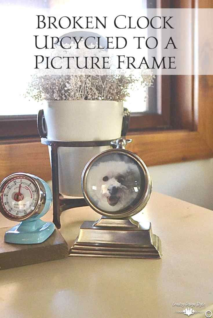 Broken Clock Repurposed Into A Picture Frame With Images Wine