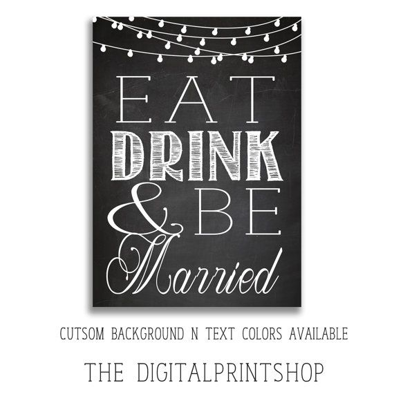 1000 Images About Eat Drink And Be Married On Pinterest: Shabby Chic Modern Eat Drink Be Married By