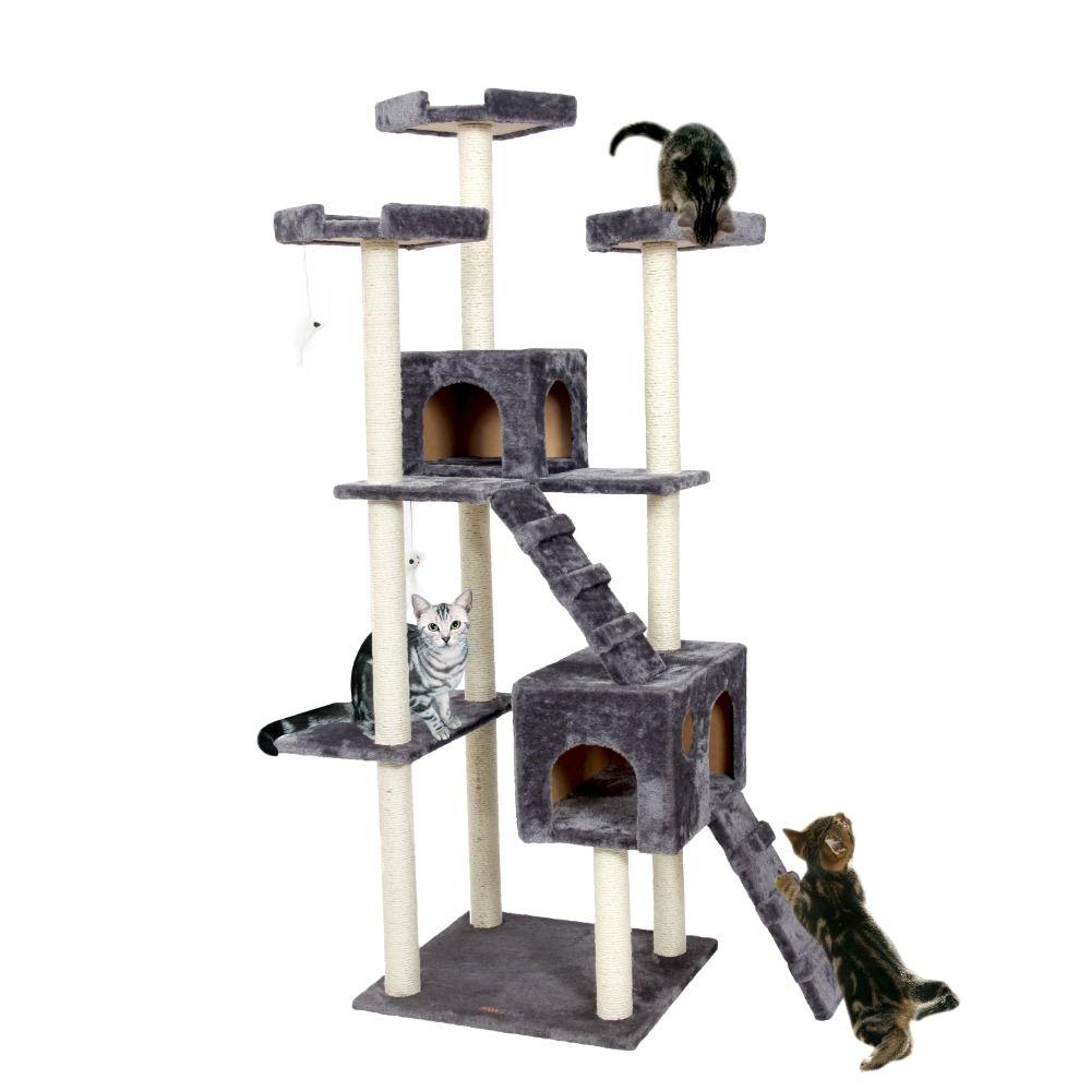 Kitty Mansions Huge Cat Tree Condo House Amazon Jungle Gym Beige New Ebay Cat Tree Condo Huge Cat Cat Gym