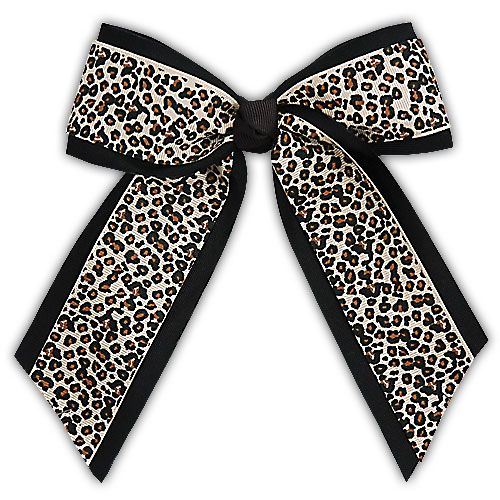 Animal Print Cheer Hair Bow - available in Leopard or Zebra - Item #AC281 - $3.95