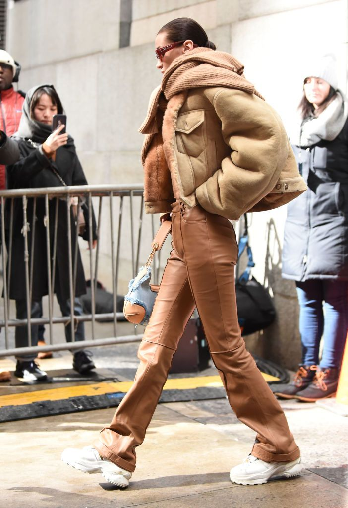 Photo of Bella Hadid is seen outside the Michael Kors show during New York…