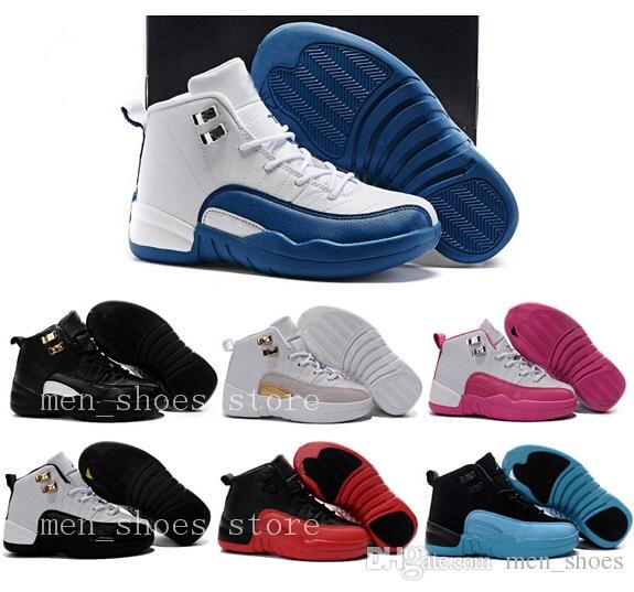 097149e58342 Kids 12s Shoes Children Basketball Shoes Boys Girls 12s French Blue The  Master 12s Taxi Sports Shoes Toddlers Birthday Gift Running Shoes Reviews  Boys ...