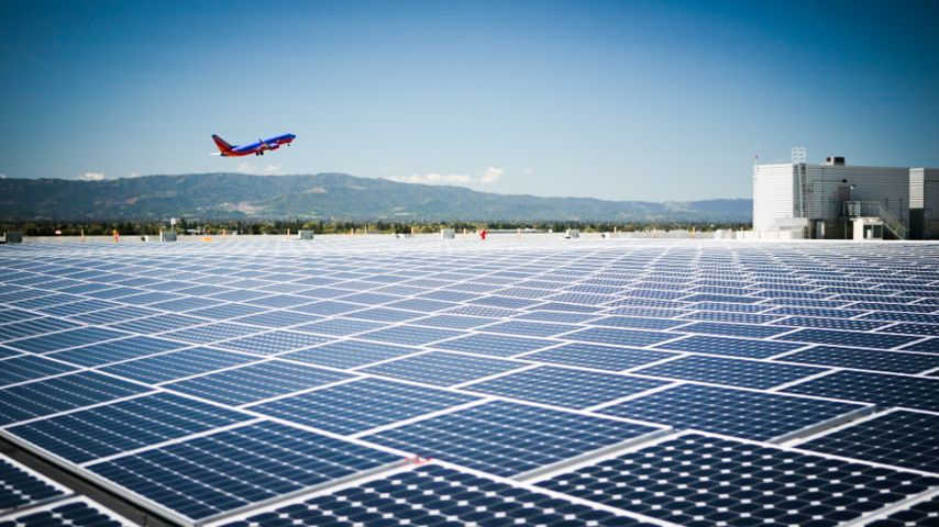 First fully solar powered airport is still flying high