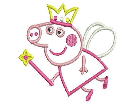 Instant Download - Machine Embroidery Design Peppa Pig Fairy