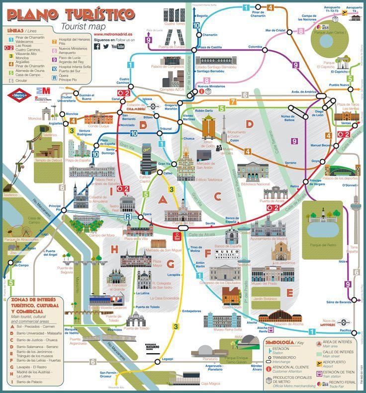 Carte touristique des mus es lieux touristiques sites for Carte touristique de paris