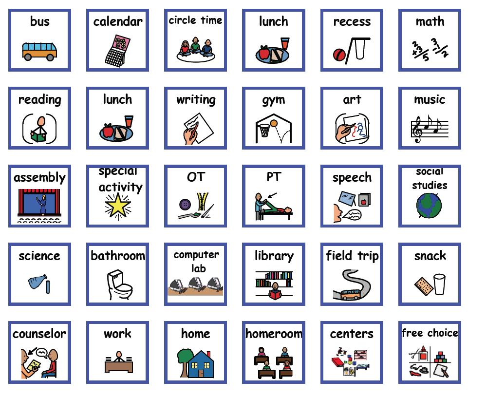 Visual Supports Downloads Behavior Cards Boardmaker Visual Schedule Autism