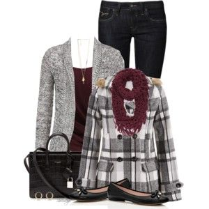 I'd wear black boots, and I still need the coat but I have mostly everything else
