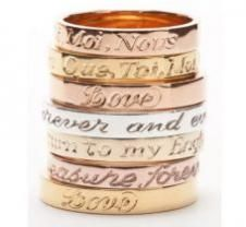 beautiful stacking rings by Laura Lee Jewellery
