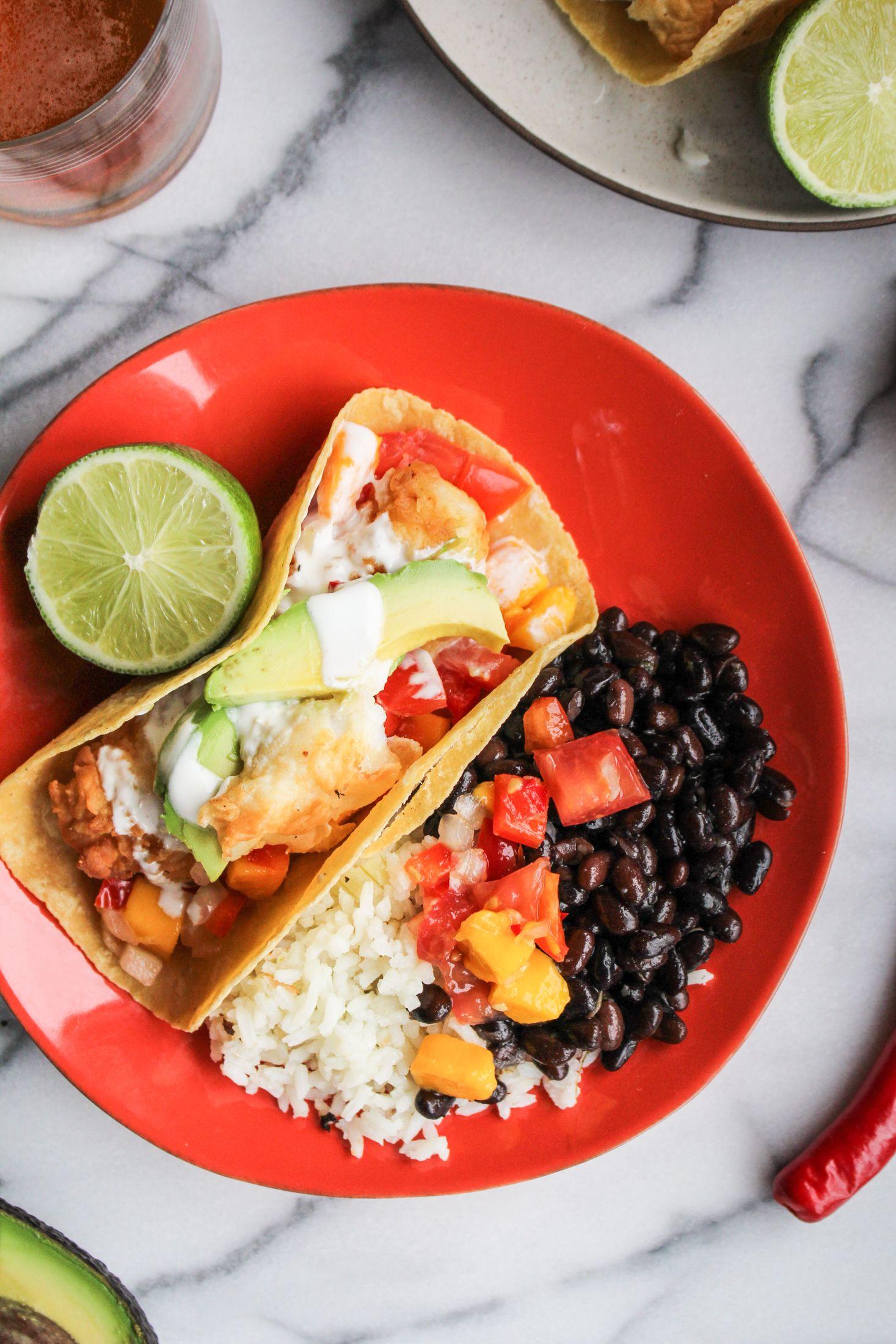 Fried Fish Tacos with Mango Salsa | Recipe | Fried fish tacos, Fried ...