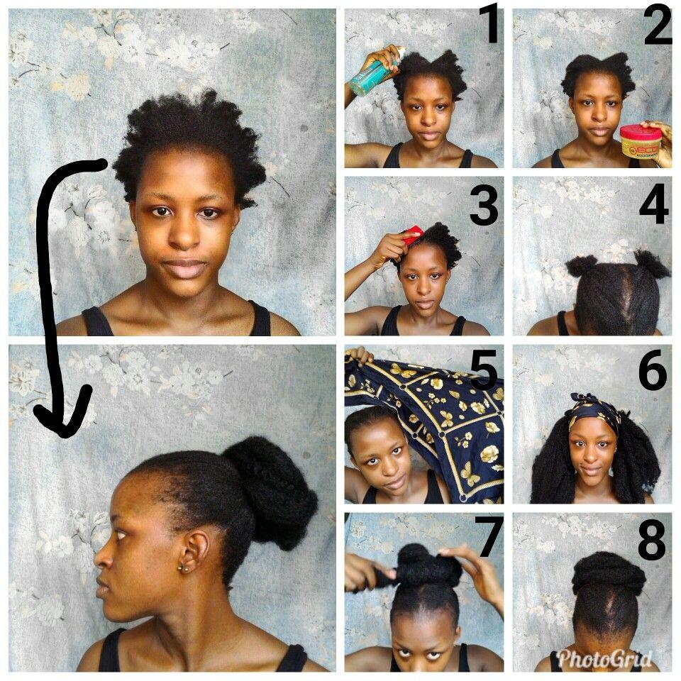 Diy Faux Bun On 4c Hair Natural Hair Styles Diy Hairstyles Hair Styles