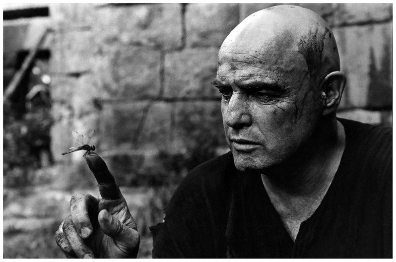 Marlon Brando fascinated by a dragonfly, Apocalypse Now, Pagsanjan, Philippines, 1976 Photography by Mary Ellen Mark