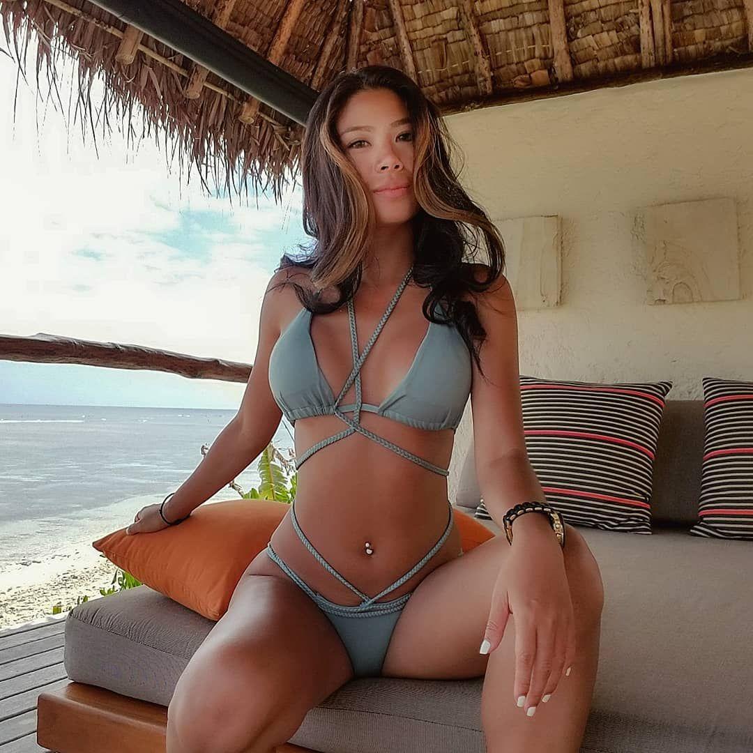 sexy spread asian bikini girl