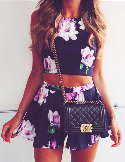 florals + #chanel