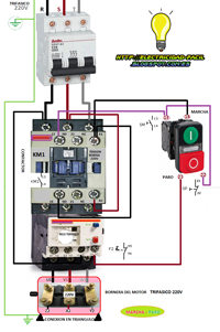 Electric Motor Wiring Diagram 220 To 110 Compustar Trifasico 220v Marcha Paro | Diagram, Cnc And Craft