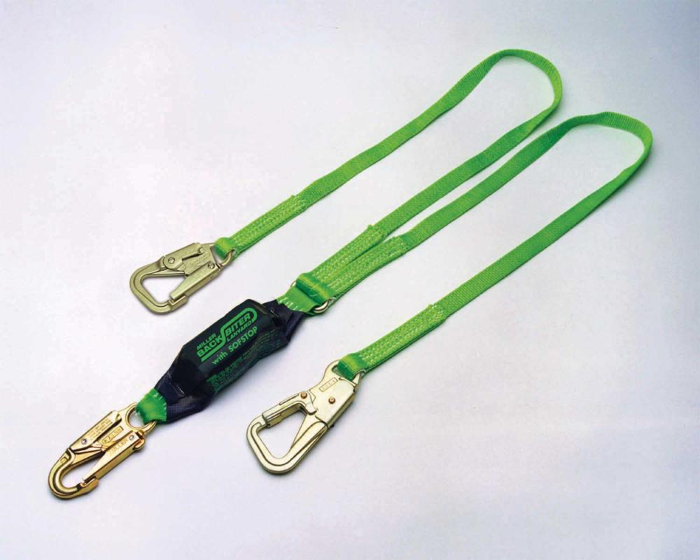 Miller 8798B/6FTGN BackBiter® TieBack Lanyard 2 Legged