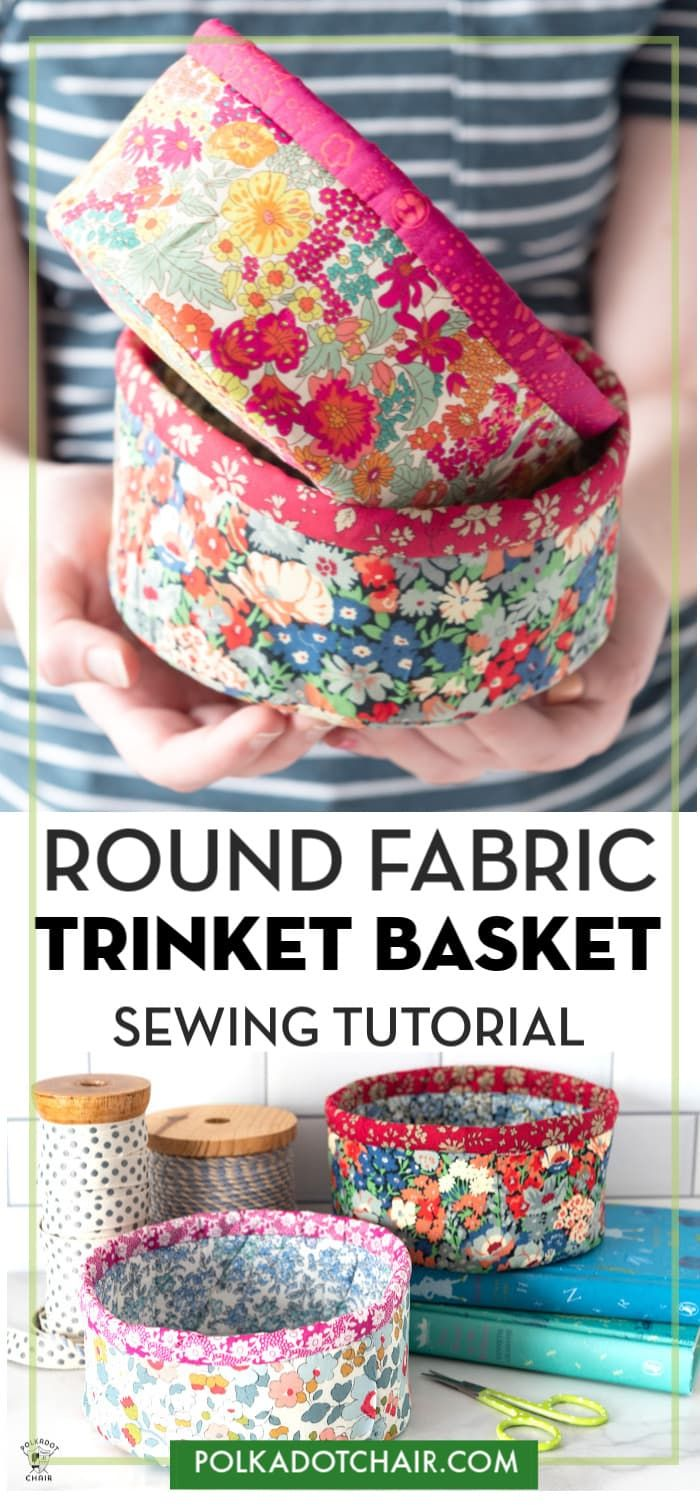 , How to Make Round Fabric Baskets | Polka Dot Chair, My Travels Blog 2020, My Travels Blog 2020