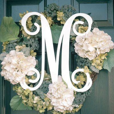 Monogram Door Decoration - Single Initial & Small Monogram Wall or Door Decoration - Single Initial   Wedding ... pezcame.com