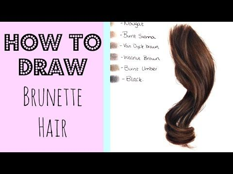 Drawing Tutorial Realistic Brunette Brown Hair In Coloured Pencil How To Draw Hair Hair Techniques Colored Pencils