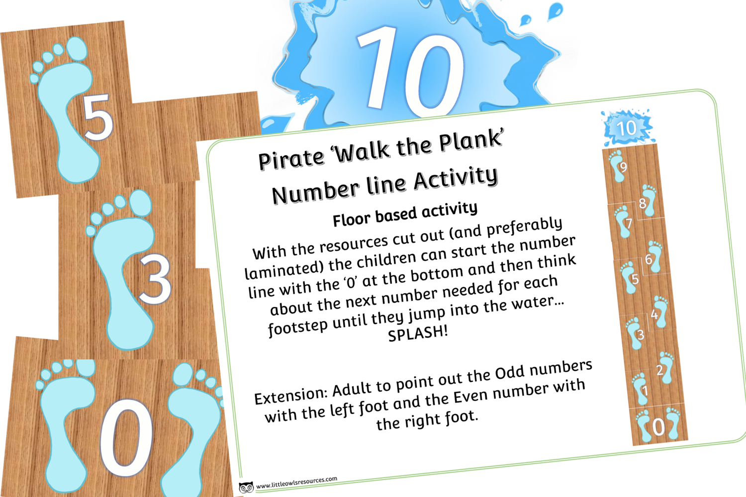 Free Walk Plank 0 10 Early Years Eyfs Printable Resource