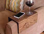 Simply Awesome Couch Sofa Arm Rest Wrap Tray Table for Food & Drinks