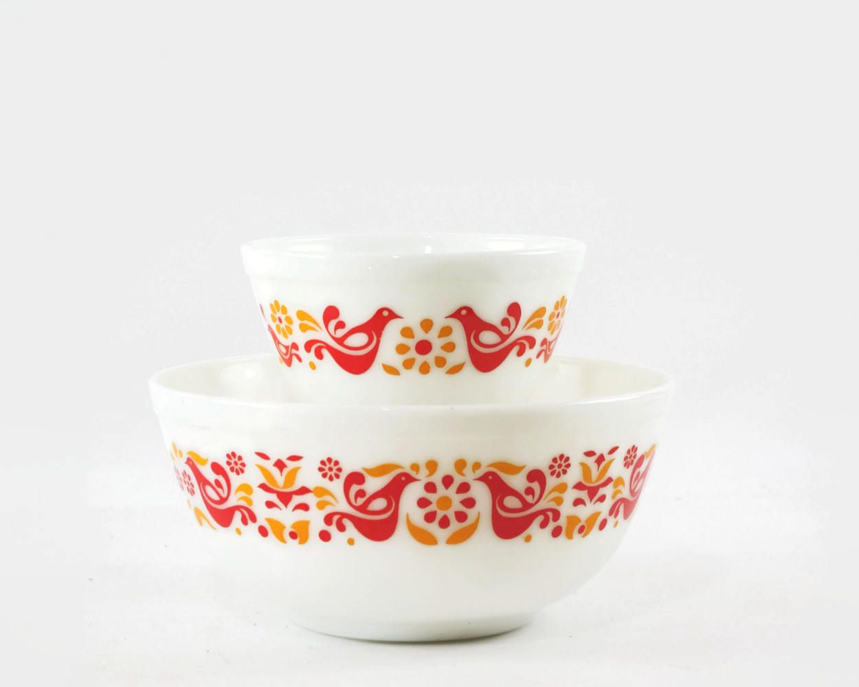 Vintage Pyrex Friendship Mixing Bowls, Mid Century Modern Kitchen ...