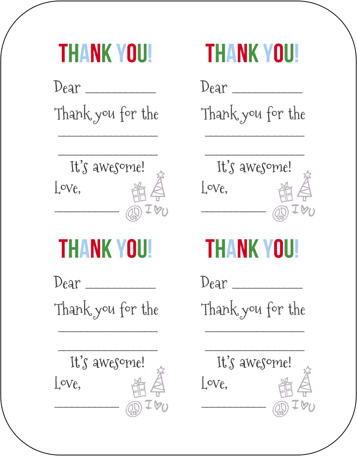 Free Fill In The Blank Thank You Cards Baby Thank You Cards