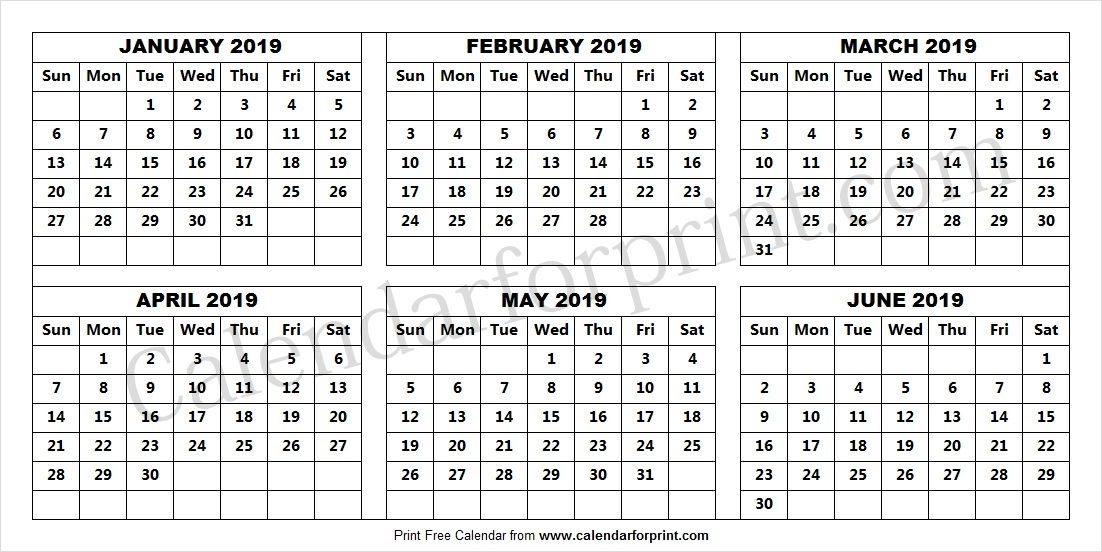 February-June 2019 Calendar Jan Feb Mar Apr May June 2019 Calendar | January 2019 Calendar