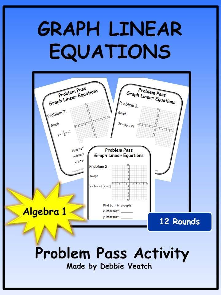 Graph Linear Equations Problem Pass Activity Equation Standard