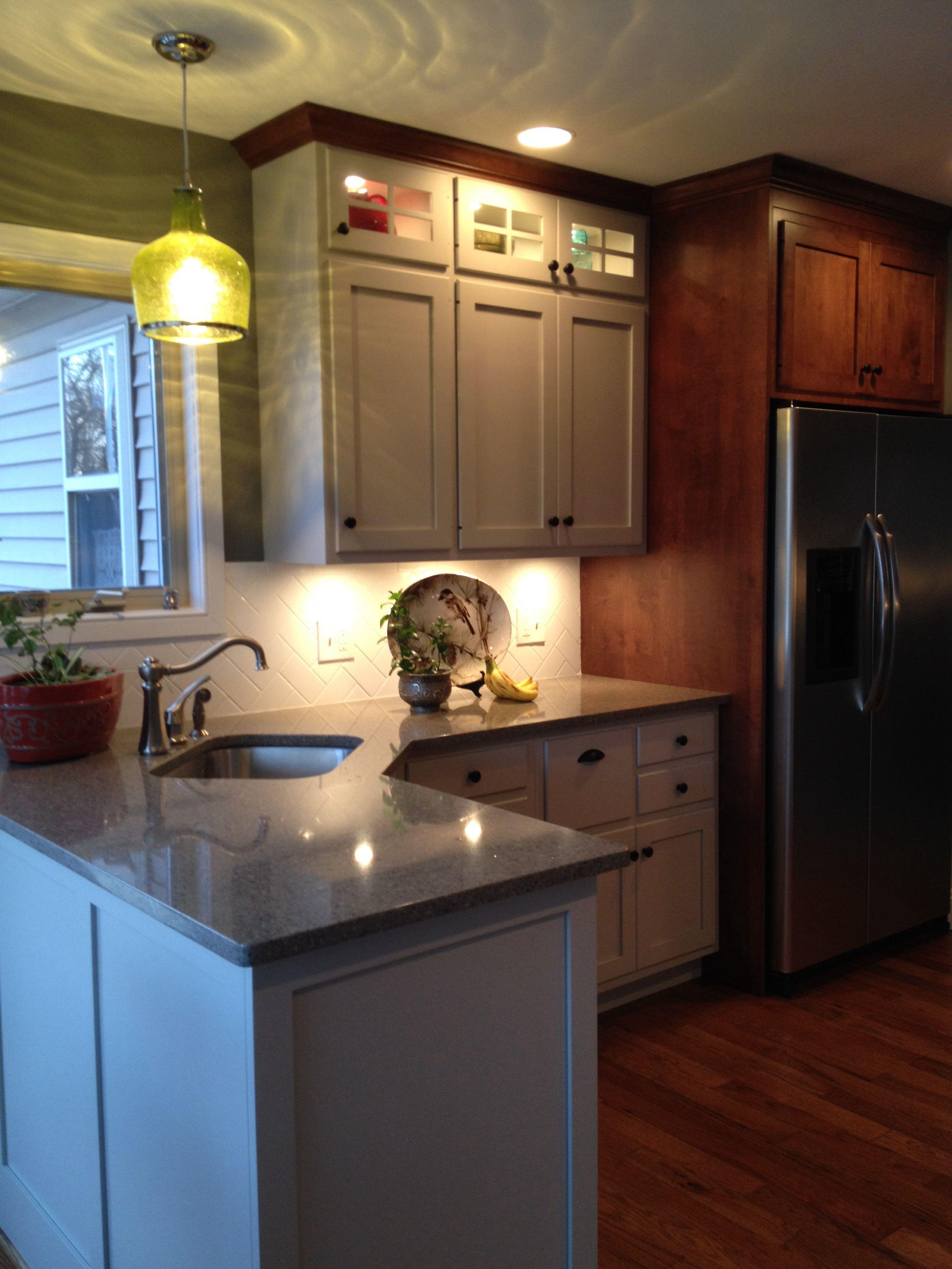 Gray Kitchen: quartz counter tops Distinctive Tile and ...