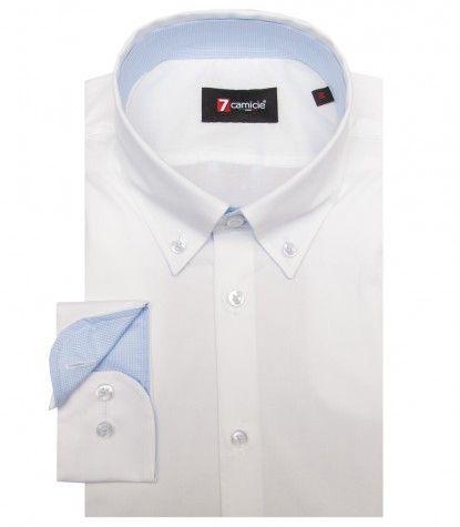 1c88fe9bb3 Camisas Leonardo Popelín stetch Blanco