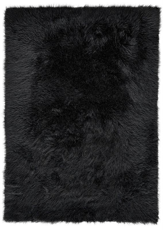 Linden Black Area Rug Rugs Rugs On Carpet Black Faux Fur Rug