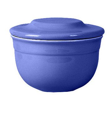 Blue Butter Pot - Enjoy soft butter! Ceramic butter pot is designed to keep butter fresh at room temperature. Made in France by Emile Henry of Burgundian clay.