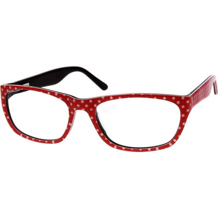 Red Oval Glasses 631118 Zenni Optical Eyeglasses Zenni