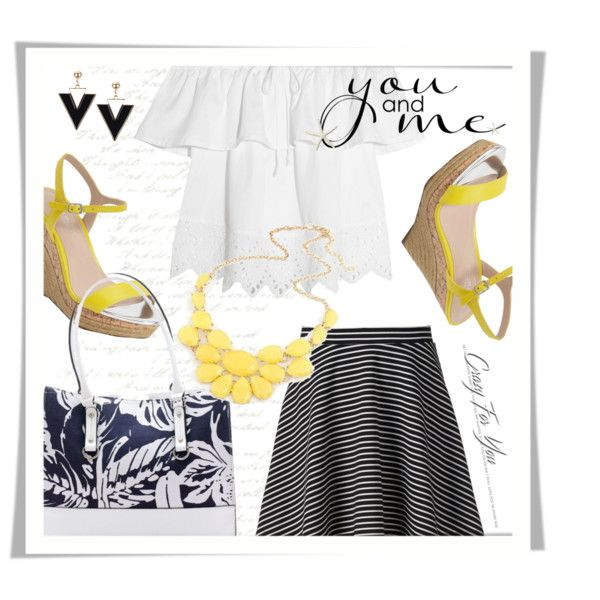 Yellow Wedges by colierollers on Polyvore featuring Madewell, Apt. 9, Charles by Charles David and New Directions