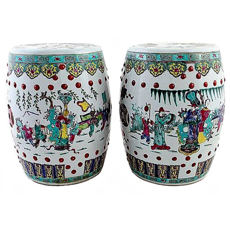 Magnificent Pair Of Antique Chinese Ceramic Garden Stools In 2019 Gamerscity Chair Design For Home Gamerscityorg