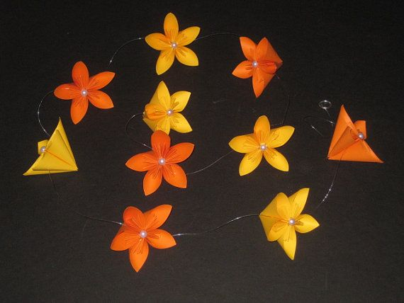 Origami Flower Garland By OrigamiByWingy On Etsy 1500
