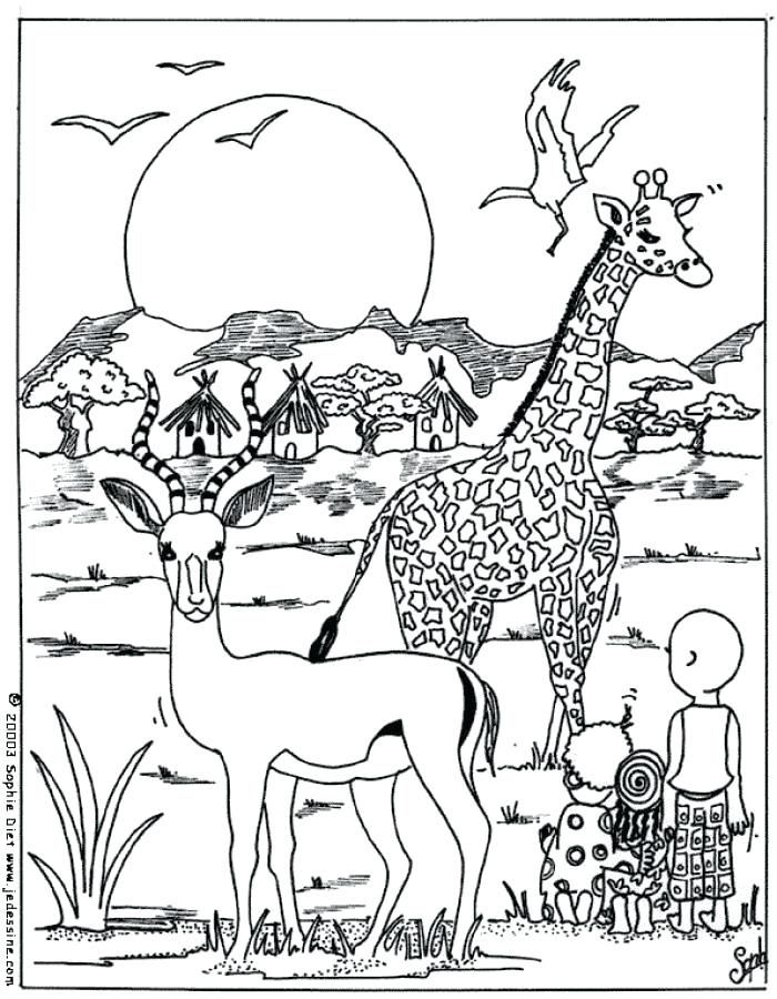 Coloriage Animaux Afrique Maternelle Inspirational Dessin Africain