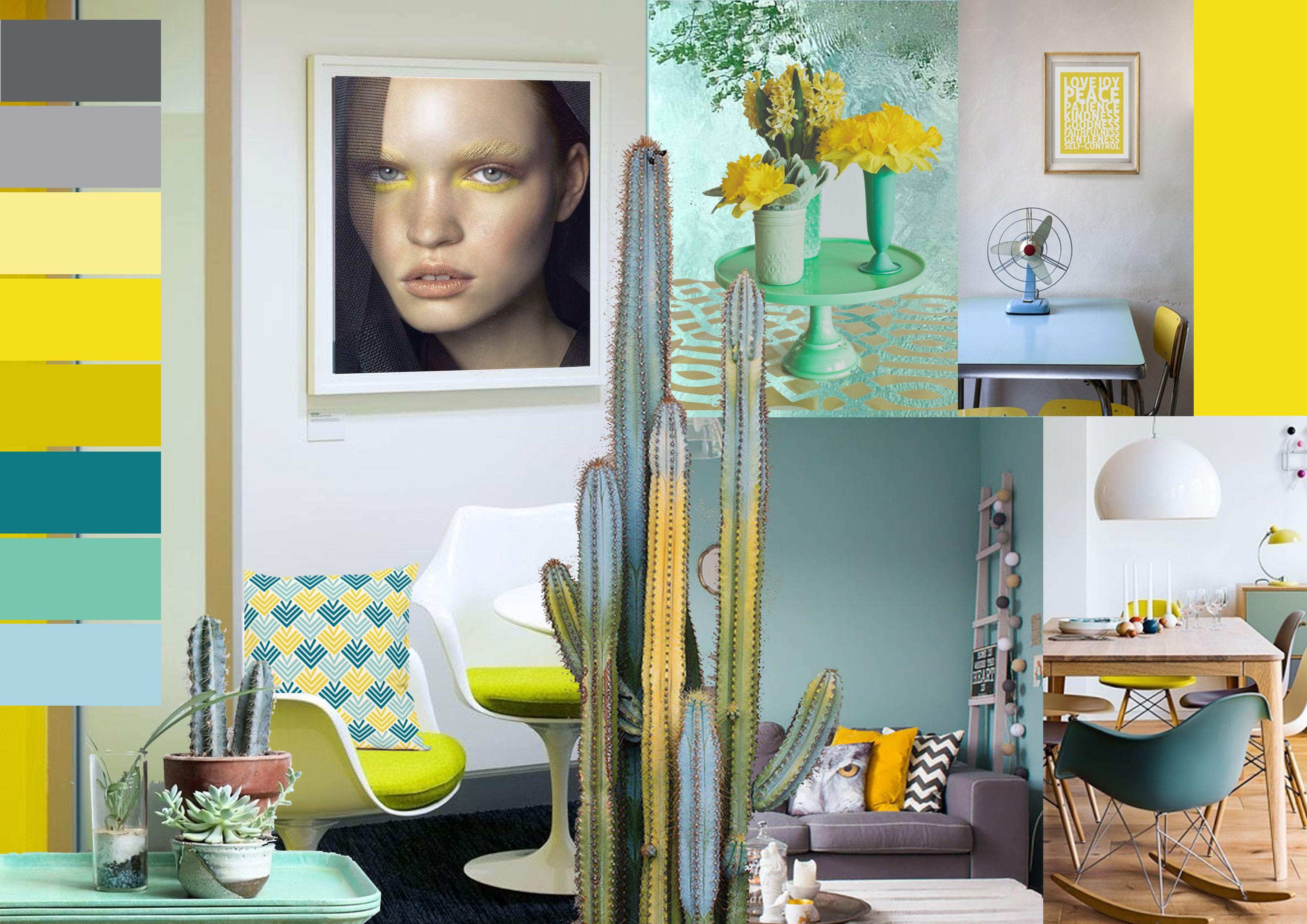 Deco Jaune Et Vert inspiration déco jaune vert d'eau par battementdailes