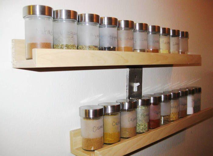 1001 Idees Etagere A Epices Pimentez La Deco De Votre Cuisine Kitchen Wall Rack Wall Mounted Spice Rack Ikea Spice Rack